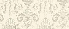 Josette Dove Grey from the Laura Ashley wallpaper collection. Linen Wallpaper, Silver Wallpaper, Flower Wallpaper, Beautiful Wallpaper, Laura Ashley Living Room, Laura Ashley Josette, Georgian Interiors, Dove Grey, Make Design