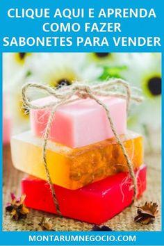 Aprenda passo a passo como fazer sabonetes artesanais para vender e comece ganhar dinheiro em casa. Diy Arts And Crafts, Diy Crafts, Aloe Vera, Natural Shampoo, Easy Diy, Soap, Make It Yourself, Fruit, Sweet