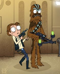 Rick and Morty x Star Wars R Rick And Morty, Rick And Morty Crossover, Rick And Morty Poster, Cartoon Games, Cartoon Movies, Cartoon Shows, Cartoon Pics, Rick And Morty Drawing, Rick And Morty Stickers