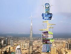 """icarus tower: People-Powered Skyscraper to Claim New """"World's Tallest"""" Crown in Dubai"""