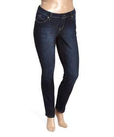 Another great find on #zulily! Dark Wash Denim Boyfriend Jeans - Plus #zulilyfinds