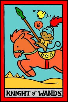 Card of the day 24/1/15: Hello Kitty Tarot ~ Knight of Wands