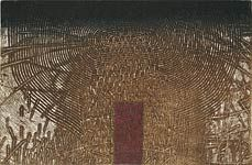 The Edge - Recording a Life in a Fingertip, 2000  Intaglio by Takahiko Hayashi