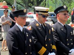 Firemen in attendance at the Memorial Day Service