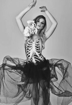 Halloween costume idea: spooky and chic skeleton ballerina