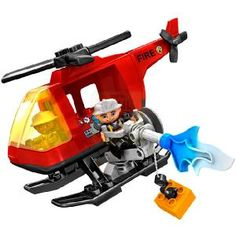 LEGO Ville Duplo Fire Helicopter  Fire emergency This big helicopter with rotor water cannon and winch with hook is just what every  http://www.comparestoreprices.co.uk/building-toys/lego-ville-duplo-fire-helicopter.asp