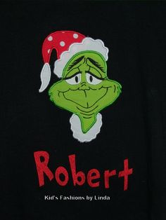 Long Sleeve Black Tshirt with Grinch Applique-grinch, christmas, shirt, long sleeve, boy, girl, toddler, baby, outfit,set,clothing,clothes,u...