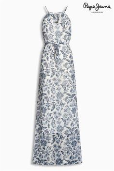 Buy Blue Pepe Jeans Carla Print Maxi Dress online today at Next  Malaysia 9b9f3fa5dc