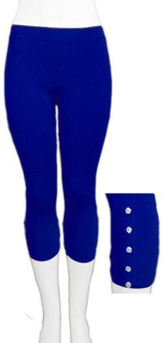 Plus Size Royal Blue Capri Leggings | Royal Blue Capris ...