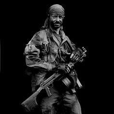 Long Range Reconnaissance Patrol (LRRP) team member circa Vietnam
