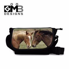 Stylish Horse messenger book bags Coolest Designer Canvas Side bag for Boys satchel bags for men Cross Body Bag for College girl #Affiliate