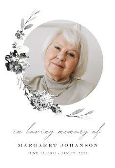 Smokey Flowers - Memorial Card #announcements #printable #diy #template #memorial #funeral Funeral Cards, Memorial Cards, Announcement, Printable, Memories, Templates, Island, Flowers, Diy