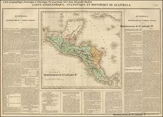 Mapa del Reino de Guatemala 1825
