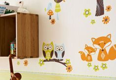 Create a dreamworld in your kids room with this wallpaper!