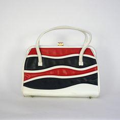 Red White And Blue Handbag