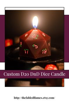 This custom DnD dice candle is the perfect gift for the tabletop gamer that has everything! Design your own D20. Pick your color, scent (or leave it unscented if you wish), and color of the numbers. #dicecandle #scentedcandle #dndaccessory #customgift #dungeonmastergift Dungeons And Dragons Characters, Dnd Characters, Unique Gifts For Mom, Geek Decor, Love Games, Dice, Design Your Own, Customized Gifts, Character Inspiration