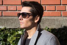 sunglasess / Nenads owncoat / Acne Studiosjumper / Filippa K Acne Studios, Interview, Mens Sunglasses, Stylish, People, Fashion, Gowns, Moda, Man Sunglasses