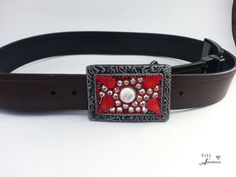 Check out this item in my Etsy shop https://www.etsy.com/listing/234294936/red-belt-buckle-boho-belt-buckle-bling