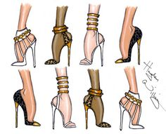 #Hayden Williams Fashion Illustrations #Shoe Sketches