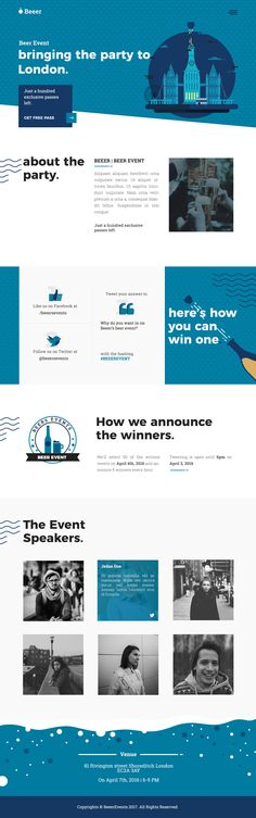 BEEER - Party & Events Template  Download : http://www.themeswild.com/template/psd-beeer-event