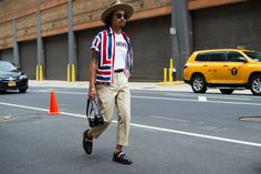 Some favorite looks from the sidewalks of New York during men's fashion week.
