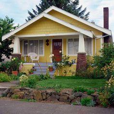craftsman bungalow.... hmm, yellow...