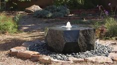 This outdoor water fountain is carved from solid blocks of basalt. Our Marubachi fountain is created with polished angles contrasting the organic natural sides Modern Fountain, Rock Fountain, Diy Fountain, Waterfall Fountain, Modern Outdoor Fountains, Patio Water Fountain, Water Fountain Design, Tabletop Fountain, Outdoor Patios