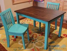 Kid's Table and Chairs {refreshed} - Refresh Restyle
