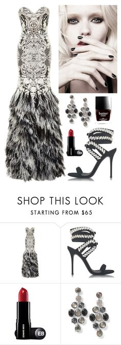 """""""Exquisite fitted Dress"""" by kotnourka ❤ liked on Polyvore featuring Naeem Khan, Giuseppe Zanotti, Calvin Klein, Ippolita and Butter London"""