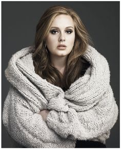 Everything about her is so rich and soulful: her hair, her eyes, her lips, her voice. Ah, Adele.