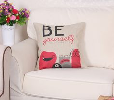 """""""Be Yourself"""" Childrens Critter Cushion Cover 45cm x 45cm"""