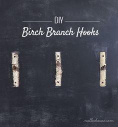 DIY Birch Branch Hooks. - 4 Men 1 Lady