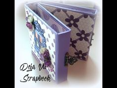 How to Make A Paper Bag Scrapbook – Scrapbooking Fun! Paper Bag Scrapbook, Mini Scrapbook Albums, Mini Albums, How To Make A Paper Bag, Mini Album Tutorial, Scrapbooks, Decoupage, Decorative Boxes, Youtube