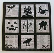 Cool Halloween book art craft