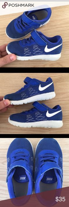 Nike Flex sneakers toddler boy size 8 C Blue Pre owned Nike for toddler boy in great condition size 8 C super light, Breathable Nike Shoes Sneakers