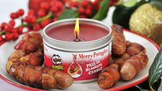 Pringles has just launched a range of scented candles – yes, candles – with a selection of three scents, Pigs in Blankets, Texas BBQ and Cheesy Cheese.