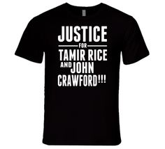 Andrew Hawkins Protest Justice For Tamir Rice And John Crawford T Shirt