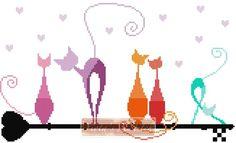 Key cats cross stitch kit                                                       …