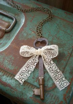 laced... (iron key necklace) (inspiration photo)