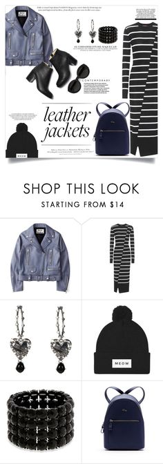 """""""Leather Jacket - Acne Studios"""" by elimarga ❤ liked on Polyvore featuring Acne Studios, McQ by Alexander McQueen, Alexander McQueen, Carla Zampatti, Erica Lyons, Lacoste, H&M and leatherjackets"""