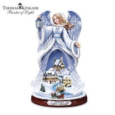 Amazon.com - Thomas Kinkade Holiday Reflections Crystal Angel Sculpture by The Bradford Exchange