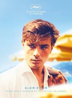 'Cannes Film Festival, - Alain Delon, Palma d'Or ⛔ HQ-quality' Poster by Alex ⛵ Air Film Festival Poster, Cannes Film Festival, Alain Delon, Jean Pierre Leaud, Donald Trump, Deneuve, Film Posters, Hollywood Stars, Movie Stars
