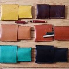 Leather case pens. Designed by Ludena.
