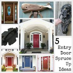 I love cool front doors...great tips! {Five Tips To Spruce Up Your Front Door}