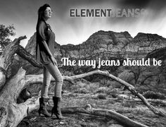 The way jeans should be !  #Elementjeans #fashionable #denim #jeans for #women who have a unique #lifestyle & who #love #trendy #fashion