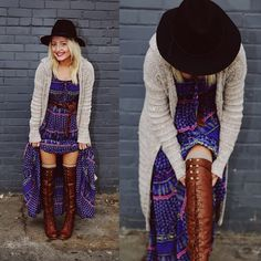 Love her style! Those boots are perfect!