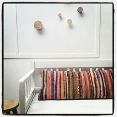 Storebror Cushion Multicolor and Hook Krok #wallhooks #cushion #kokssoffa www.storebror.nl