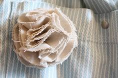 How to make fabric flower petals