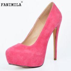 3daf35e52bd Hot New Sexy Women Pumps Round Toe Thin High Heels Women Shoes Simple Fine  Heels Women s