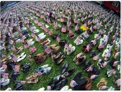 Empty Shoes Fill With Memories at Ocean Grove Memorial Pairs Represent All Lost Souls World Trade Center, Remembering September 11th, 11. September, We Will Never Forget, Lest We Forget, Memorial Park, Powerful Pictures, Worst Day, Souvenir